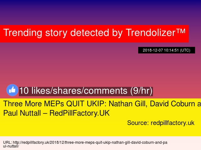 27d5c1f02878 Three More MEPs QUIT UKIP  Nathan Gill