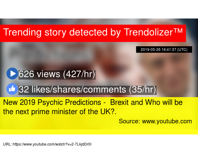 New 2019 Psychic Predictions - Brexit and Who will be the
